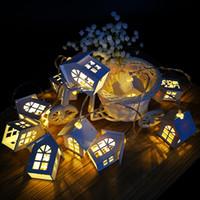 ingrosso ha condotto la ghirlanda di albero illuminata-1.5M 10pcs LED Christmas Tree House Style Fairy Light Led String Wedding Natal Garland Capodanno decorazioni natalizie per la casa