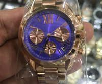 Wholesale types men watches resale online - 2 types mm mm M silver case blue dial quartz watches chronograph stop watch K suit both men women with all sub dials work second hand