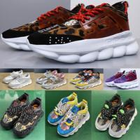 sapatos masculinos sola venda por atacado-Homem Chain Reaction triplo Designer homens Casual Sneakers Esporte Sapatos Moda mulheres Sole instrutor Lightweight Link-relevo com saco de poeira