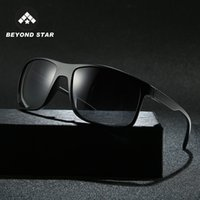 Wholesale sunglasses man polarised for sale - Group buy BEYONDSTAR NEW TR90 Ultra light Frame Polarised Sun Glasses Men Fashion Square Man Black Sunglasses Lentes De Sol Hombre TR9150