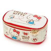 Wholesale kitty makeup bag for sale - Group buy Cute Cartoon Hello Kitty My Melody Canvas Makeup Bag Cosmetic Bags Make Up Box Women Beauty Case Storage Toiletry Bag Y181122