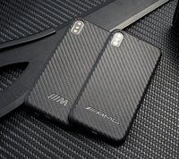 iphone sportwagen großhandel-Kohlefaser AMG BMW Sport Car Case für iPhone XS Max XR XS X 8 8 Plus 7 6S 6 Plus