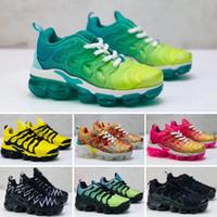 zebra shoes boy baby achat en gros de-Nike Air VaporMax Plus TN Marque Designer Chaussures Enfants Bébé TN Véritable Argile Kanye West Running Baskets Beurre Semi Zèbre Enfants Garçon Fille Beluga 2.0 Baskets