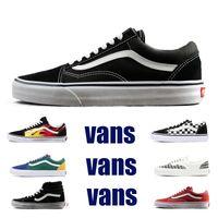 ingrosso scarpe da ginnastica nere-2019 Original Vans old skool sk8 hi uomo donna tela sneakers nero bianco rosso YACHT CLUB MARSHMALLOW moda skate scarpe casual taglia 36-44