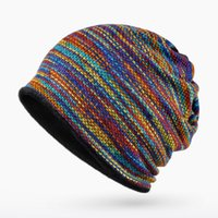 ingrosso i cappelli della novità dei bambini lavorati a maglia-Cappello WISHQTH Marca Skullies Berretti per le donne degli uomini di modo la protezione calda unisex elasticità Knit Beanie Cappelli invernali