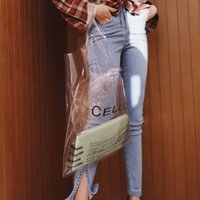 85429e838895f Wholesale small transparent beach bags online - Trong Pop Pvc Tote Bag Women  s Nice Fashion