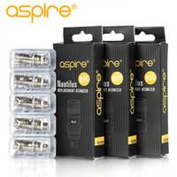 100% Authentic Aspire Nautilus Coil 0.4ohm 0.7ohm 1.6ohm 1.8ohm nautilus bvc coils for aspire nautilus Mini 2 2S tank