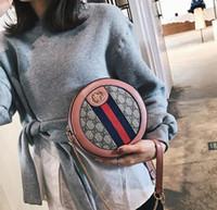 bolsas totes vermelhas venda por atacado-2019 Red Pequeno Ouro Cadeia Pequeno saco redondo Meninas Sacos de Ombro PU Messenger Bag De Couro Bolsas De Luxo Mulheres Sacos De Designer De Saco Crossbody