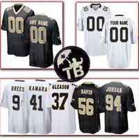 xxl fußball trikot 43 großhandel-Benutzerdefinierte New Orleans Saints Jersey 94 Cameron 22 Ingram II 37 Gleason 33 Edmunds 6 Morstead 43 Williams 92 Davenport 74 Bushrod Fußball