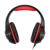 venta de auriculares para juegos al por mayor-Venta caliente para teléfonos móviles PS4 PSP PC Gaming Headphones 3.5mm + usb Auriculares con cable con micrófono Lámpara LED Auriculares con cancelación de ruido