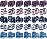 buz hokeyi formalarını gençler toptan satış-Winnipeg Jets Formalar Mens 55 Mark Scheifele Jersey 33 Dustin Byfuglien 26 Blake Wheeler Kadın Buz Hokeyi Formalar Dikişli Gençlik