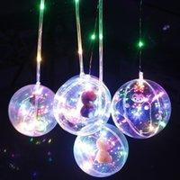 novo estilo balões venda por atacado-2018 New Style Lidar Com Balões de Flash brinquedos Led Luzes Da Corda Flasher Iluminação Balão de 10 polegadas Balões de Natal Decoração de Halloween lanterna