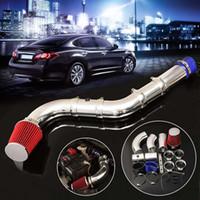 filtros de ar de corrida venda por atacado-3 Polegada Universal Car Auto Racing Direto Kit de Entrada de Injeção de Filtro de Ar Frio Desempenho do Sistema de Filtro de Ar de Indução Fria