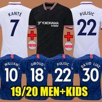 jersey de fútbol para niños tailandia al por mayor-2019 Chelsea Tailandia PULISIC JORGINHO Soccer Jerseys Camisetas de fútbol 2020 LAMPARD ODOI GIROUD 18 19 KANTE Willian DAVID LUIZ camiseta de fútbol Camisetas Camisetas Kids