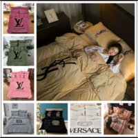 Wholesale designer king size bedding sets for sale - Luxury Brand King Size Comforter Set Luxury Designer Bedding Sets Solid Duve Sets Cotton Bedding Sets Bedding Supplies DHL Shipping