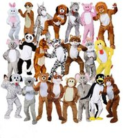 ingrosso grandi costumi della mascotte della testa-Costumi nime adulti Big Head Deluxe Animal Mascot Fancy Dress Costume Bunny horse teddy costume mascotte Jumbo Plush per Halloween Purim pa ...