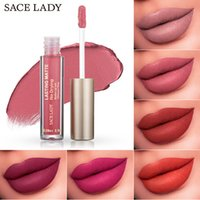 Wholesale orange lipstick nude resale online - 23 Single Color Lipstick Beauty Matte Wine Lip Gloss Liquid Stick Long Lasting Pigment Color Lip Makeup Cosmetics Nude Dark No Drying Lips