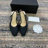 черные простые туфли кожаные женщины оптовых-Дизайнерские каблуки котенка Обычные черные босоножки Классические сандалии из натуральной кожи с острым носом Лучшие продажи Женская обувь Повседневная