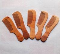 fabricantes de peines de madera al por mayor-Venta caliente del tratamiento de las ventas directas de los fabricantes de peines de madera de melocotón con mango peine de madera brillante peine del pelo