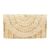Wholesale women summer clutch for sale - Group buy 2019 New Fashion Lady Women Summer Lovely Retro Straw Knitted Handbag For Key Money Beach Long Bag Clutch Elegant Design Bags