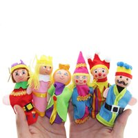 Wholesale puppet family resale online - NEW Finger Family Puppets Set Mini Plush Baby Toy Boys Girls Finger Puppets Educational Story Hand Puppet Cloth Doll Toys