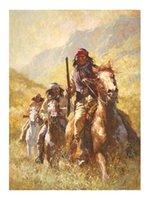 nackte leinwanddrucke großhandel-Legend of Geronimo von Howard Terpning Hochwertiges handgemaltes HD-Druck-Porträtkunst-Ölgemälde auf Leinwand in mehreren Größen