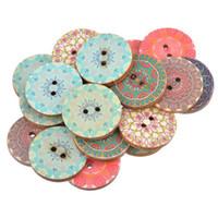 boutons artisanaux de 25 mm achat en gros de-bouton 25mm Hoomall 50 PCs National Pure Wood Boutons Artisanat Scrapbooking Décoration Boutons 25mm Accessoires De Couture Aléatoire Mixte