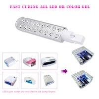 ingrosso lampadine a sostituzione della lampada uv-Sorgente luminosa a doppia lampada di ricambio per lampada polimerizzata a LED con lampada UV da 9W per essiccatore per polimerizzazione di smalto per unghie