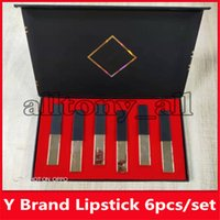 Wholesale high brand lipstick resale online - Famous Y Brand set Lip Make up Lipstick Matte Shimmer Lipstick Natural with high quality
