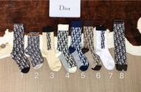 ingrosso trasporto di goccia dei calzini-Designer di lusso cotone calza lunga per le donne Migliore qualità signore femminile Marca lettera stampata calzini caldi Calze trasporto di goccia S480