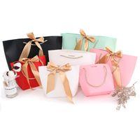 ingrosso dimensione carta libro-4 dimensioni scatola di grandi dimensioni presente per i libri di abbigliamento imballaggio maniglia oro scatola di carta borse sacchetto di carta regalo kraft con maniglie LX2087
