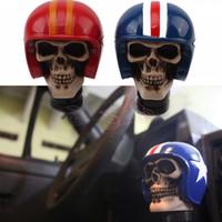 Wholesale gear shift knob skull for sale - Group buy Car Vehicle Skull Helmet Style Resin Car Gear Knob Handles Gear Shift Knob Manual Shifter Shift Lever Handbrake Covers