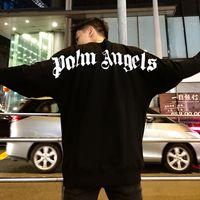 ingrosso pullover mens hoodie nero-Felpe con cappuccio da uomo Palm Angels 19FW New Autumn Black O-Neck Felpe Sport Casual Pullover
