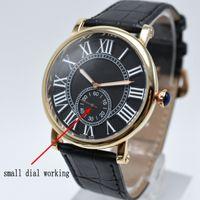 мужская стрелка для часов оптовых-Новый Высокое качество моды для мужчин маленький три иглы марки кварцевые кожаные часы случайные простые аналоговые мужские часы горячие продажи подарок мужчины платье часы