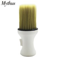 Wholesale hair material for sale - Group buy Professional Soft Hair Brush Neck Duster Powder Hairbrush White High Plastic Material Hairdressing Broken Hair Cleaning Hairbrush