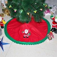 ingrosso grembiuli dell'hotel-90 centimetri Albero di Natale Gonna Grembiuli Babbo Natale Carpet albero di Natale gonne Festival di natale decorazioni per la casa Alberghi Carpet Ornamenti