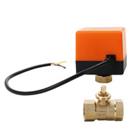 Wholesale ball valve dn15 resale online - DN15 DN20 DN25 Motorized Ball Valve Way Wire Brass Electric Actuator Thread Air conditioning Water System Controller DC12V