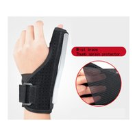 Wholesale sport hand wrap for sale - Group buy 1 Elastic Thumb Brace Wristband Spring Steel Wrap Hand Palm Sports Wrist Brace Right Left Hand Support Corrector Bandage