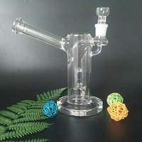 Amazing fuction glass bong glass water pipe bongs with diffusion pump and ball 19mm joint glass 7.5 inches tall(VA-Rattle Can GB-446)
