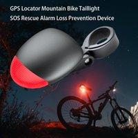 mountain bike gps venda por atacado-Dispositivo anti roubo bicicleta localizador GPS mountain bike lanternas traseiras alarme de resgate sos anti roubo de dispositivo perdido
