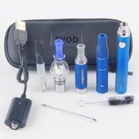 evod vaporizer starter kit großhandel-4 in 1 Wachs-Verdampfer-Kit CE3-Tank-Vape-Patronen Trockenkräuterkammer-Tupfer-Kit Glaskugel-Wachsöl-Vapes-Stift Evod MT3-Batterie-Starter-Kits