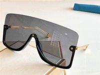 kleine sonnenbrille groihandel-Neue Modedesigner-Sonnenbrille 0540 angeschlossenes Objektiv große Größe Halbrahmen mit kleinem Sterne Avantgarde beliebte Goggle Top-Qualität
