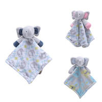 Wholesale doll nurses resale online - Baby Pacifier Appease Soothe Towel Cute Cartoon Elephant Soft Plush Nursing Stuffed Doll Infant Teether Sleeping Partner