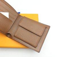 geldbörse überprüft großhandel-Paris Plaid Check Style Designer Herren Geldbörse Berühmte Männer Luxus Brieftaschen Mit Münzfach Mehrere Kurze Kleine Brieftaschen mit box