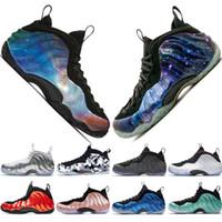 sapatos brilhantes brancos venda por atacado-Galáxia Alternativa 1.0 2.0 Penny Hardaway Olímpico Black Gum Branco-Out Mens tênis de basquete espumas one men sports sneakers tamanho designer 7-13