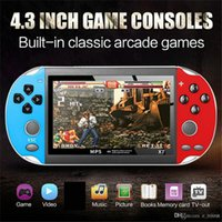 Wholesale free video game consoles resale online - X7 Video Game Player inch for GBA Handheld Game Console Retro Games LCD Display Game Player for Children Free DHL MQ12