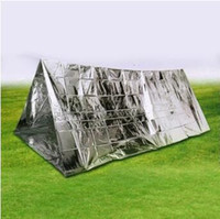 Wholesale tents sleep resale online - 240x150x90cm Emergency Tent Disposable Camping Emergency Shelter Insulation Shack Shelter PET Survival Tube Tent Outdoor Pads CCA11517