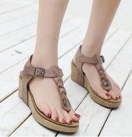 80357ebbd Sandalias bohemias tipo slingback para mujer sandalias peep toe nueva  hebilla metálica plataforma confort zapatos de playa romana de vacaciones con  puntera ...