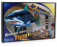 peixe, voando, remoto venda por atacado-Remotas presentes Controle Tubarão Brinquedos Air peixes nadando RC Toy animal infravermelho RC vôo Balões de ar Clown Fish Toy decoração do partido