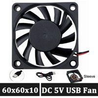 GDSTIME 60mm Fan 60x60x10mm 0.18A Brushless DC Cooling Fan 5Volt Fan